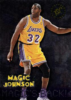 1995 Stadium Club #361 Magic Johnson Basketball Card