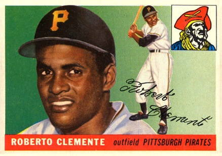 1955 Topps #164 Roberto Clemente Rookie Card