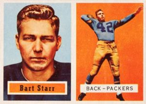 1957 Topps #119 Bart Starr Rookie Card