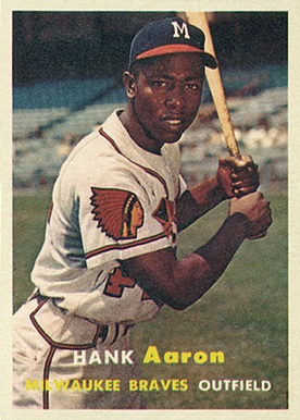 1957 Topps #20 Hank Aaron Baseball Card