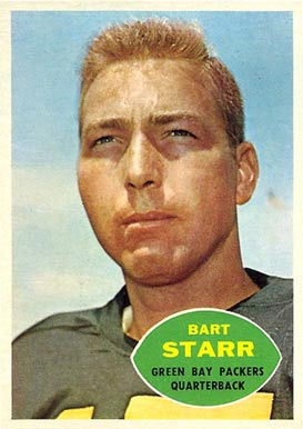1960 Topps #51 Bart Starr Football Card