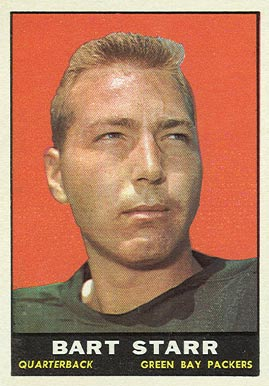 1961 Topps #39 Bart Starr Football Card