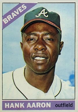 1966 Topps #500 Hank Aaron Baseball Card