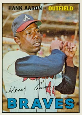 1967 Topps #250 Hank Aaron Baseball Card