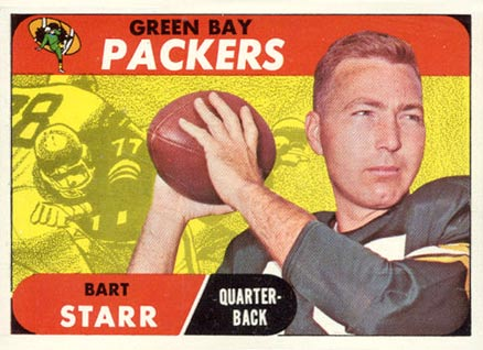 1968 Topps #1 Bart Starr Football Card