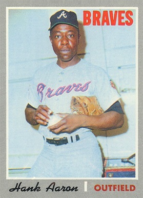 1970 Topps #500 Hank Aaron Baseball Card