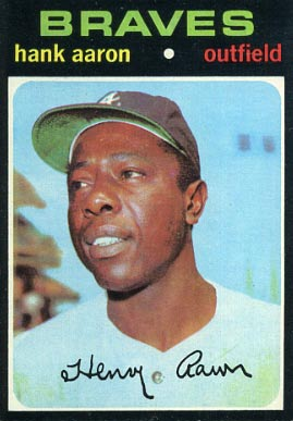 1971 Topps #400 Hank Aaron Baseball Card