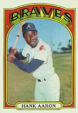 1972 Topps #299 Hank Aaron Baseball Card