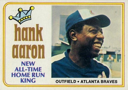 1974 Topps #1 Hank Aaron Baseball Card