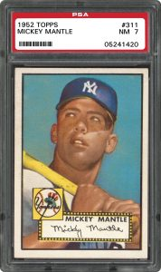 1952 Topps Mickey Mantle graded PSA 7 Near Mint condition
