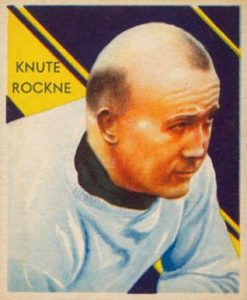 1935 National Chicle Knute Rockne Football Card