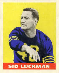 1948 Leaf Sid Luckman Rookie Card