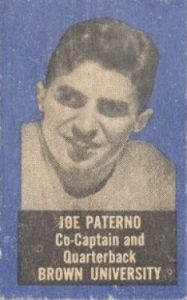 1950 Topps Felt Backs Joe Paterno Rookie Card
