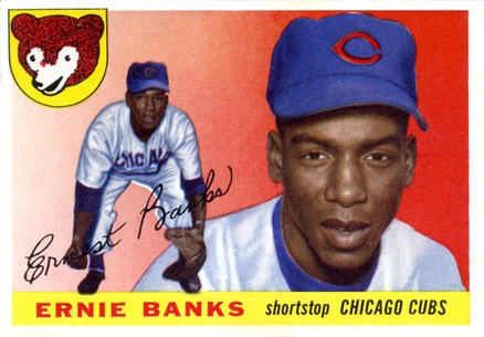 1955 Topps #28 Ernie Banks Baseball Card