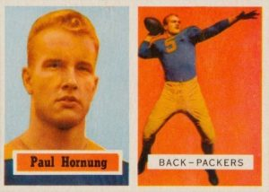 1957 Topps Paul Hornung Rookie Card