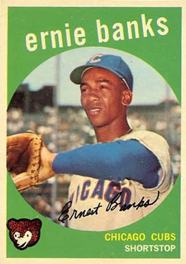 1959 Topps #350 Ernie Banks Baseball Card