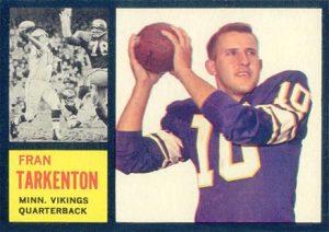 1962 Topps Fran Tarkenton Rookie Card