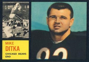1962 Topps Mike Ditka Rookie Card