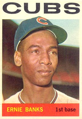 1964 Topps #55 Ernie Banks Baseball Card