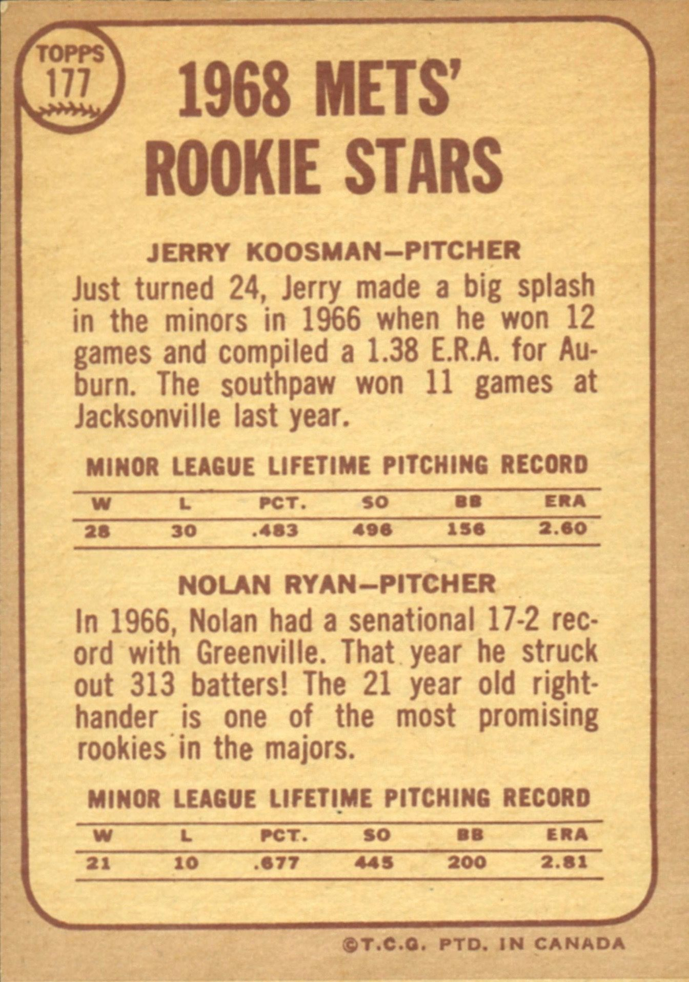 1968 Topps Nolan Ryan Rookie Card The Ultimate Collectors