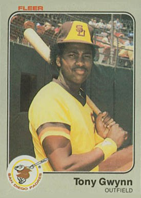 1983 Fleer Tony Gwynn Rookie Card
