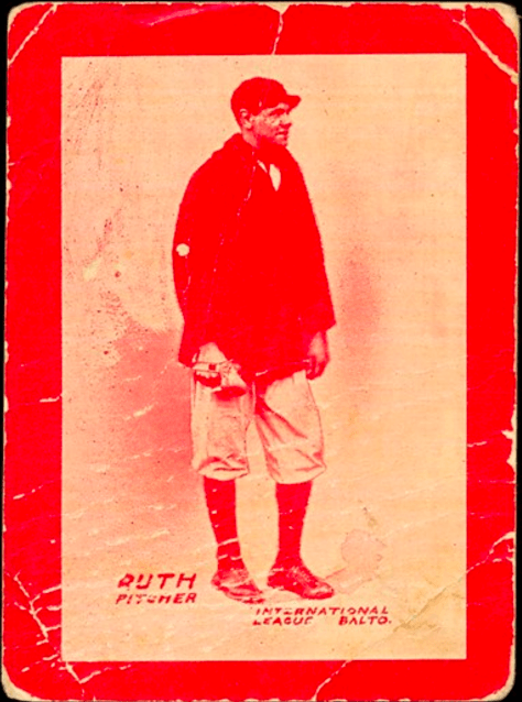 14 Baltimore News #9 Babe Ruth Baseball Card Red Variation