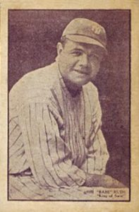 1933 Uncle Jacks Candy #24 Babe Ruth Baseball Card