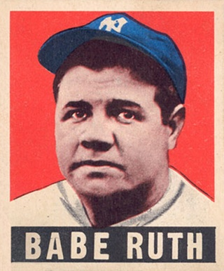 1948 Leaf #3 Babe Ruth Baseball Card