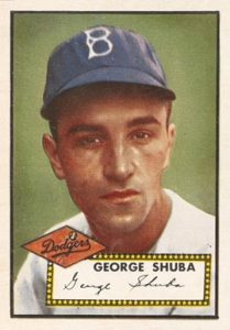 1952 Topps #326 George Shuba Rookie Card