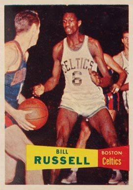 1957 Topps #77 Bill Russell Rookie Card