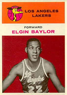 1961 Fleer #3 Elgin Baylor Rookie Card