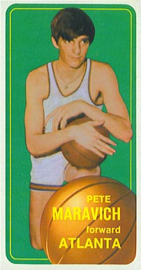 1970 Topps #123 Pete Maravich Rookie Card