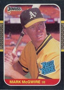 1987 Donruss #46 Mark McGwire Rated Rookie