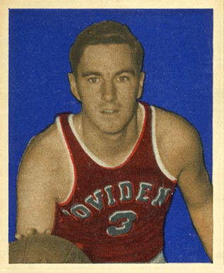 1948 #1 Bowman Ernie Calverley Basketball Card
