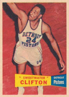 1957 Topps #1 Nat Clifton Basketball Card