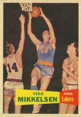 1957 Topps #28 Vern Mikkelsen Rookie Card