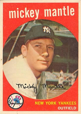 1959 Topps #10 Mickey Mantle Baseball Card
