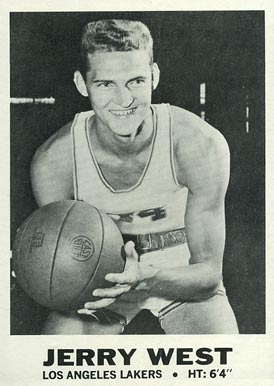 1968 Topps Test #19 Jerry West Basketball Card