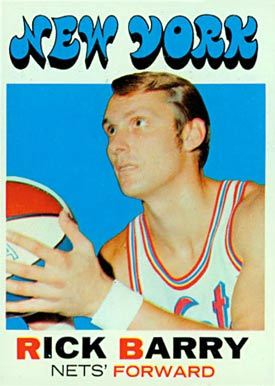 1971 Topps #170 Rick Barry Rookie Card