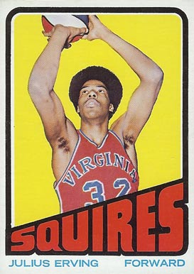 1972 Topps #195 Julius Erving Rookie Card