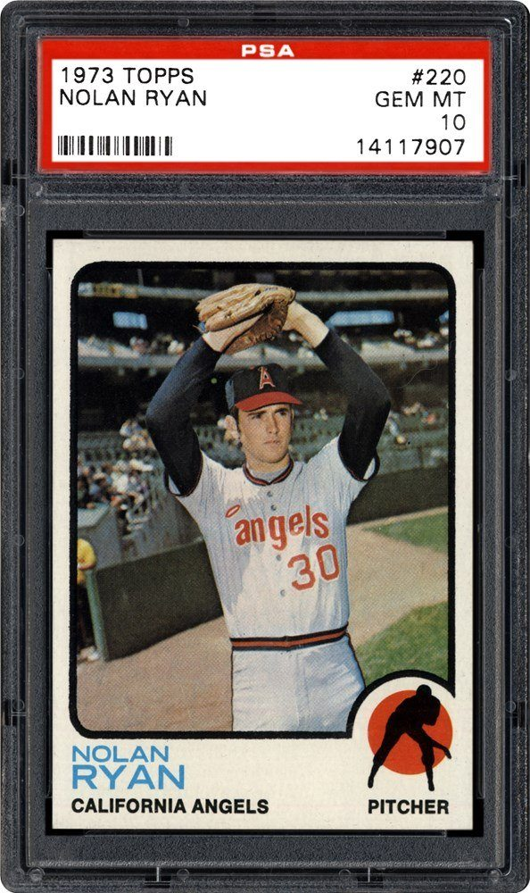 1973 Topps #220 Nolan Ryan Graded PSA 10 Gem Mint Condition