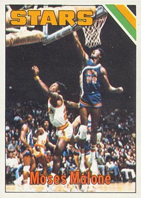 1975 Topps #254 Moses Malone Rookie Card