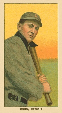 1909-11 T206 Ty Cobb Baseball Card Bat On Shoulder