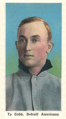 1911 M116 Sporting Life Ty Cobb Baseball Card With Blue Background