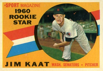 1960 Topps #136 Jim Kaat Rookie Card