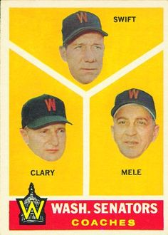 1960 Topps #470 Washing Senators Coaches Baseball Card