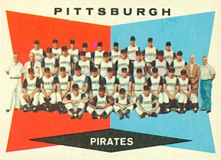 1960 Topps #484 Pittsburgh Pirates Team Baseball Card