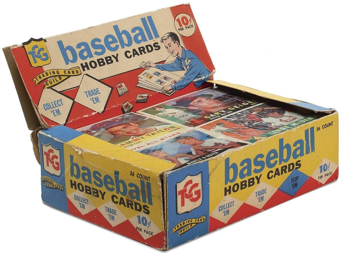 1960 Topps Baseball Card 2nd Series Cello Box