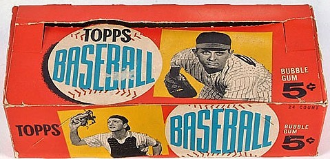 1960 Topps Baseball Card Empty 5-Cent Wax Pack Display Box