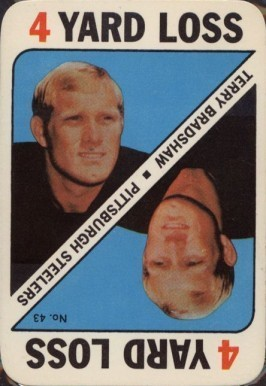 1971 Topps Game Cards #43 Terry Bradshaw Card